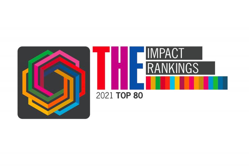 Times Higher Education Impact Rankings 2021 Top 80 logo