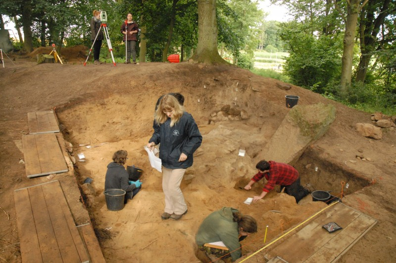 View of excavations in progress at Friedichsruhe 7 (north). [Photograph by Timothy Darvill]