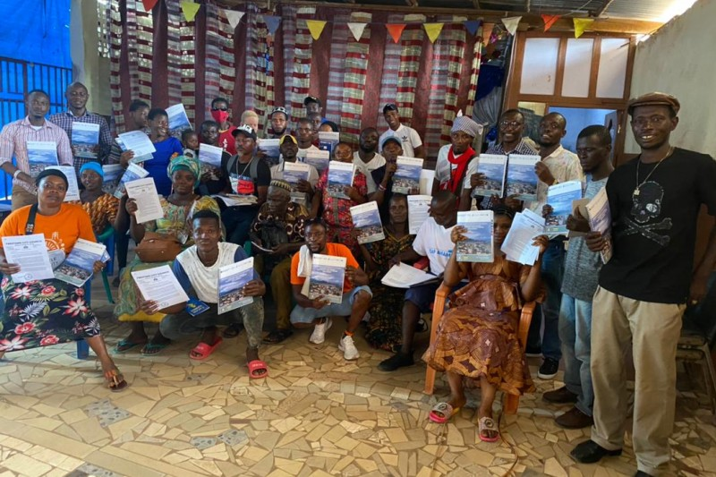 Participants at the training in Freetown