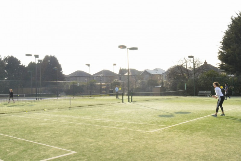 Tennis on the BU courts