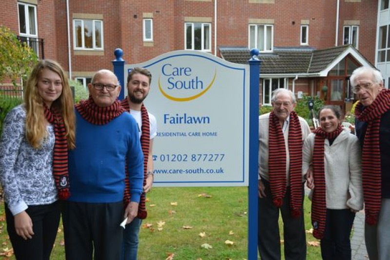 BU student volunteers accompanied Care South residents from Ferndown to the BU Big Match against Spurs in October 2015.