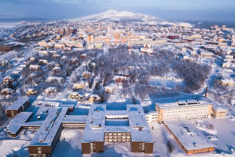 Kiruna, the northernmost town in Sweden. Tsuguliev/Shutterstock.com