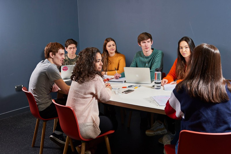 Group work in the Fusion Building