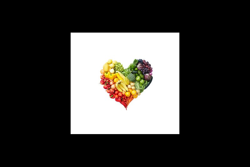 Health & Nutrition week - veggie heart