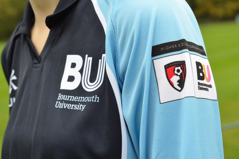 Higher Education Partner AFCB logo on sleeve