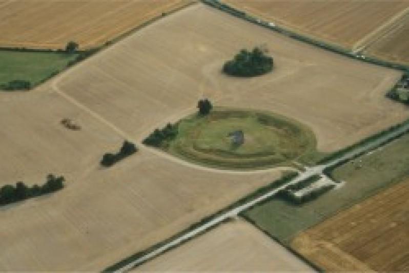 Knowlton Prehistoric Landscape Project aerial