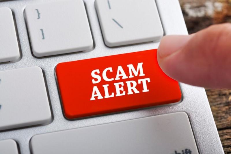 scam alert button