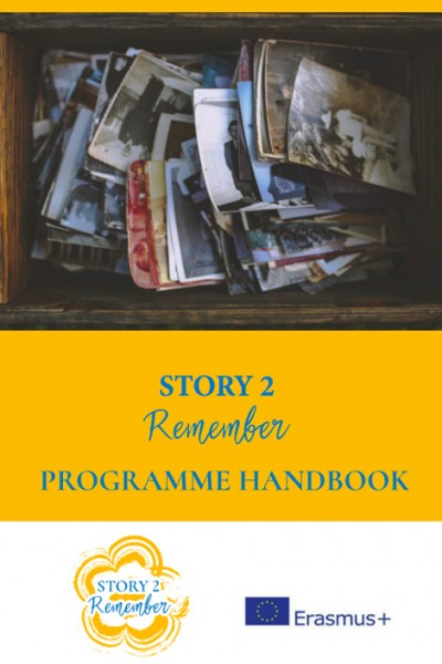 The cover of the Story 2 Remember handbook