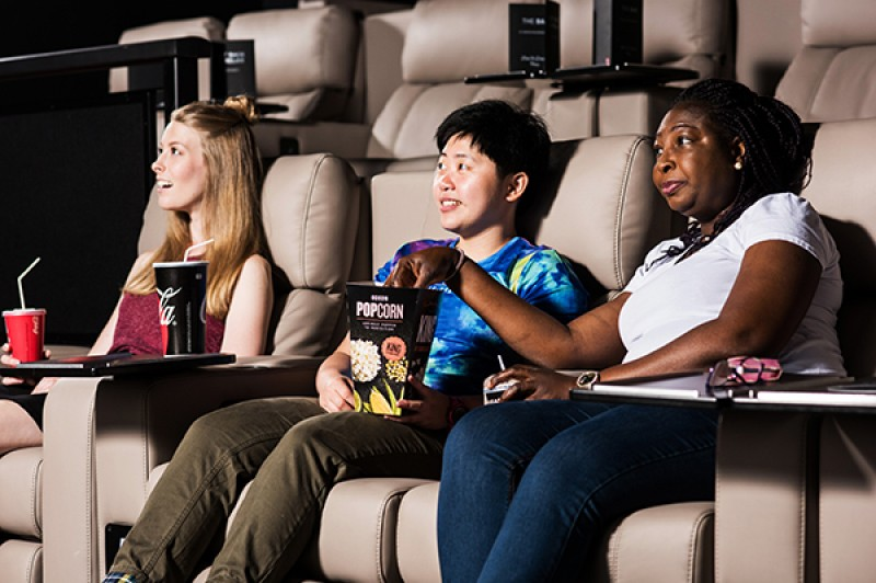 Students in the cinema
