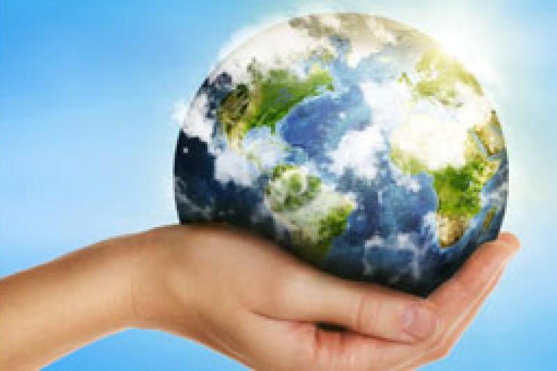 sustainability image - hand holding globe