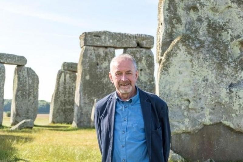Professor Timothy Darvill at Stonehenge